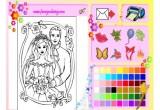 لعبة تلوين العروسين