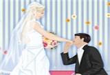 لعبة تلبيس عريس و عروسة للكبار فقط