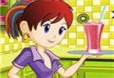 لعبة طبخ العصائر مع سارة
