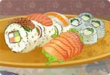لعبة تصميم طبق السوشي