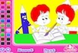 لعبة تلوين دفتر الاطفال
