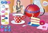 لعبة جلسة الشاي مع الكيك