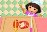 العاب دورا في طبخ البيتزا