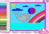العاب تلوين الدلفين المتحرك