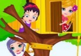 لعبة بناء بنات باربي بيت على الشجرة