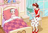لعبة تلبيس الام و ابنتها المريضة