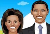 لعبة تلبيس الرئيس الامريكي و زوجتة