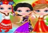 العاب تلبيس طفل باربي ملابس عالمية