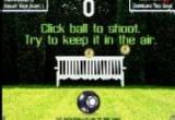 لعبة تنطيط الكرة بشدة