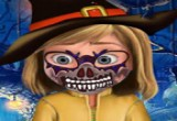 لعبة رسم وجه الهالوين