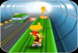 لعبة صب واي تزلج بالشارع السريع