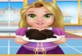 لعبة طفل ربانزل و طبخ كرات الشوكولاتة