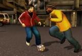 لعبة كرة قدم في الشوارع