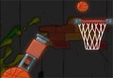 لعبة قذف كرة السلة بالمدفع
