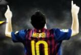 لعبة الرياضي الهداف مسي في برشلونة