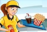 لعبة اشهى المأكولات في مطعم السنما