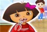 لعبة تنظيف وتبيض اسنان دورا
