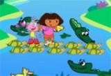 العاب مغامرات دورا في بحيرة التمساح