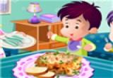 لعبة طبخ الغداء للاطفال
