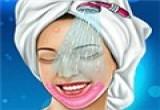 لعبة تنظيف بشرة و مكياج العروسة
