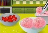 العاب طبخ فراولة الآيس كريم
