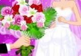 لعبة اجمل باقة ورد للعروسين