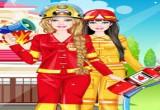 العاب تلبيس باربي لباس الاطفاء