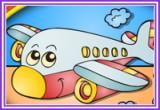 العاب تلوين طائرة