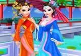 لعبة تلبيس السا وانا ملابس صينية تقليديه