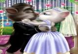 العاب تقبيل توم وانجيلا يوم الزفاف
