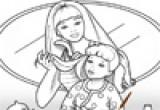 لعبة تلوين البنت و امها