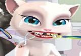 العاب توم و انجيلا عند طيب الاسنان