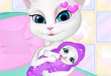 العاب ولادة القطة انجيلا