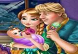 لعبة العناية بطفل آنا
