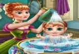 لعبة استحمام طفل آنا