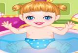 العاب استحمام الطفل الصغير