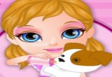 العاب طفلة باربي مع الحيوانات الاليفة