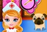 لعبة الطفلة باربي في مستشفى الحيوانات