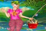 العاب باربي في رحلة الصيد