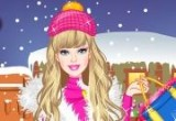 العاب باربي و التسوق الشتوي