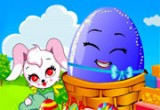 لعبة الارنب و البيضة السحرية  الملونة