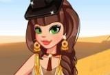 العاب تلبيس الممثلة في الصحراء