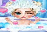 العاب حمام الطفلة السا المجمدة
