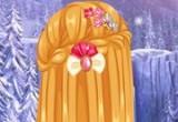 العاب تسريحات ضفائر شعر السا المجمدة