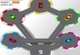 لعبة السيارات الملونة