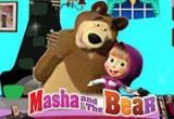 لعبة ديكور غرفة الطفلة ماشا وصديقها الدب