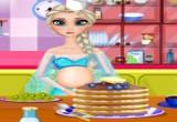 لعبة طبخ الفطائر مع السا الحامل