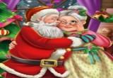 لعبة تقبيل بابا نويل لزوجته