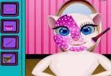 لعبة تنظيف بشرة القطة انجيلا