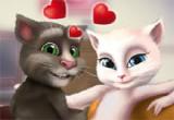 لعبة تقبيل توم و انجيلا